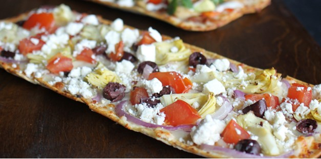 Photo of flatbread pizza
